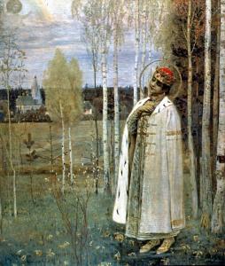 """М. В. Нестеров. """"Дмитрий-Царевич убиенный"""" (1898 год), находится в Русском музее калуга"""