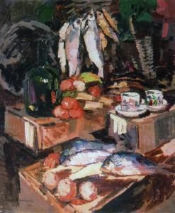 """К. Коровин. """"Рыбы"""" (1916 год) калуга"""