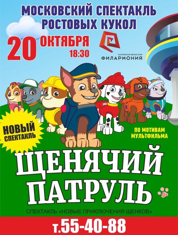 Спектакль «Щенячий патруль» в Калужской областной филармонии