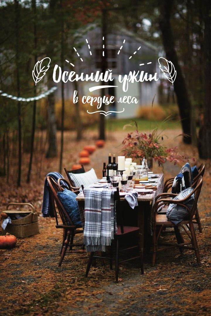 Осенний ужин в сердце леса