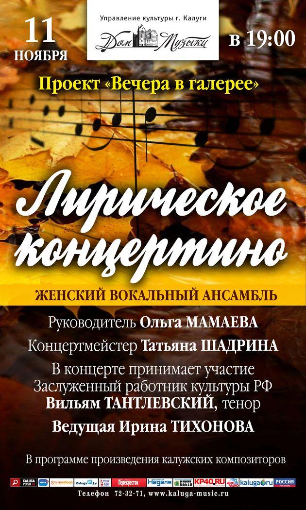 Лирическое концертино в галерее Дома музыки