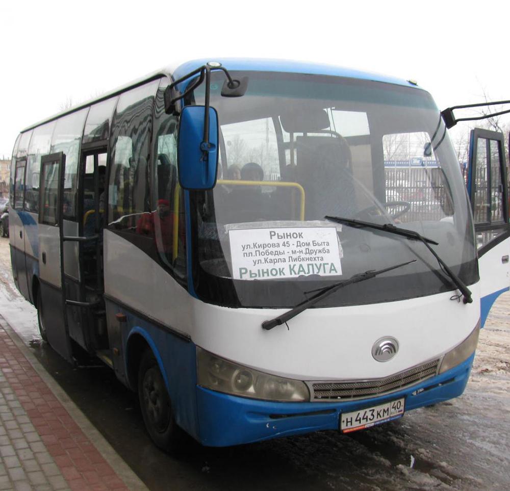 Из центра города до нового рынка «Калуга» начал ходить бесплатный автобус