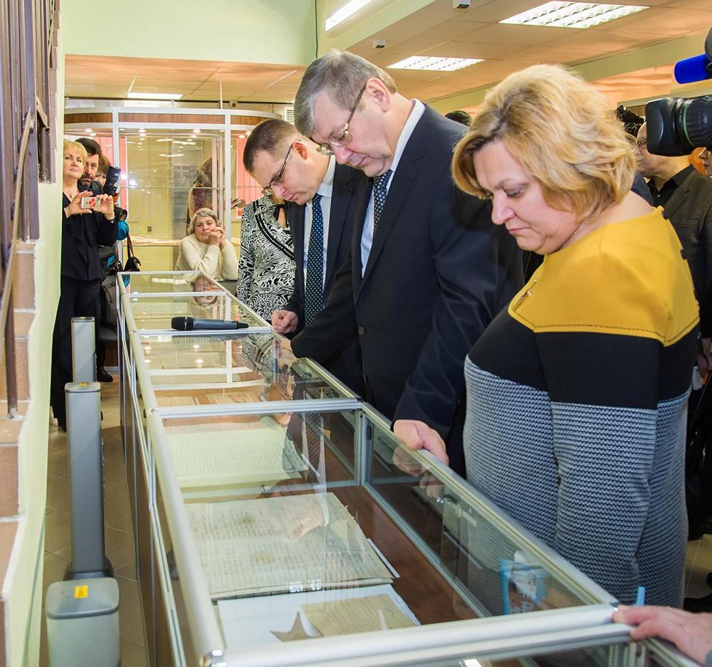 К 75-летию освобождения Калуги от оккупации открылась выставка архивных документов