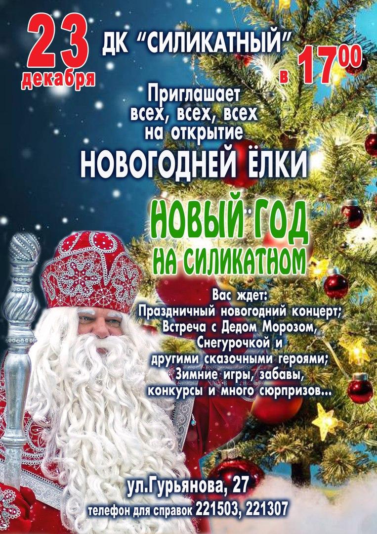 Открытие новогодней ёлки в ДК Силикатый