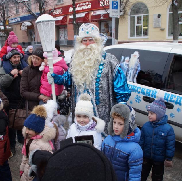 Дед Мороз прибыл в Калугу и торжественно открыл свою Резиденцию
