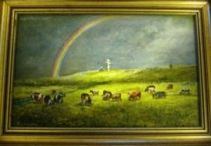 Г. Бирюков. «У поклонного креста в честь Великого стояния на Угре»