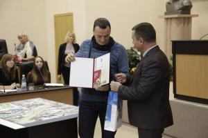Награждение. Диплом 2 степени получил Яков Казацкий