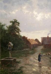 В Калужском музее изобразительных искусств представят картину А. А. Киселева «Въезд в деревню»