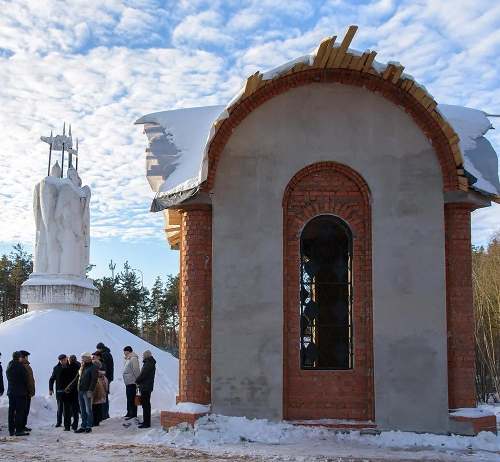 У памятника Великому Стоянию на Угре появилась часовня
