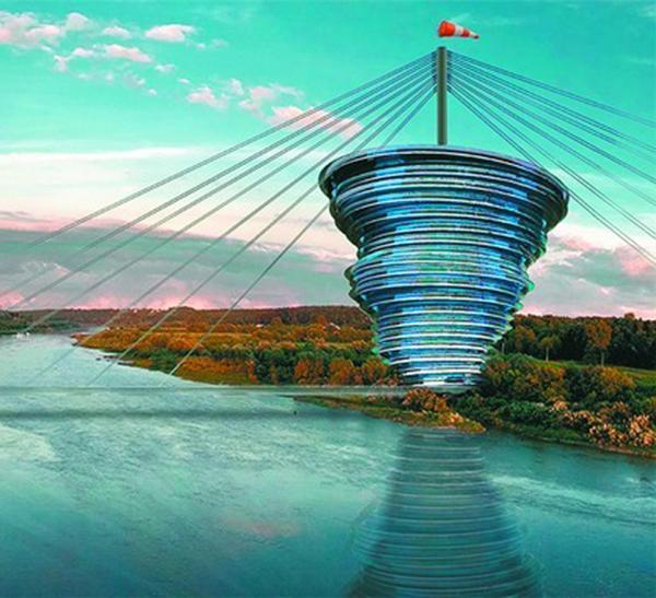 В Калуге предлагают построить новый архитектурный объект «Мост Пяти Стихий»