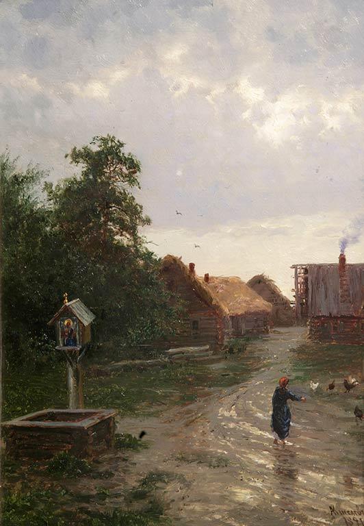 Выставка одной картины: «въезд в деревню» А. А. Киселева