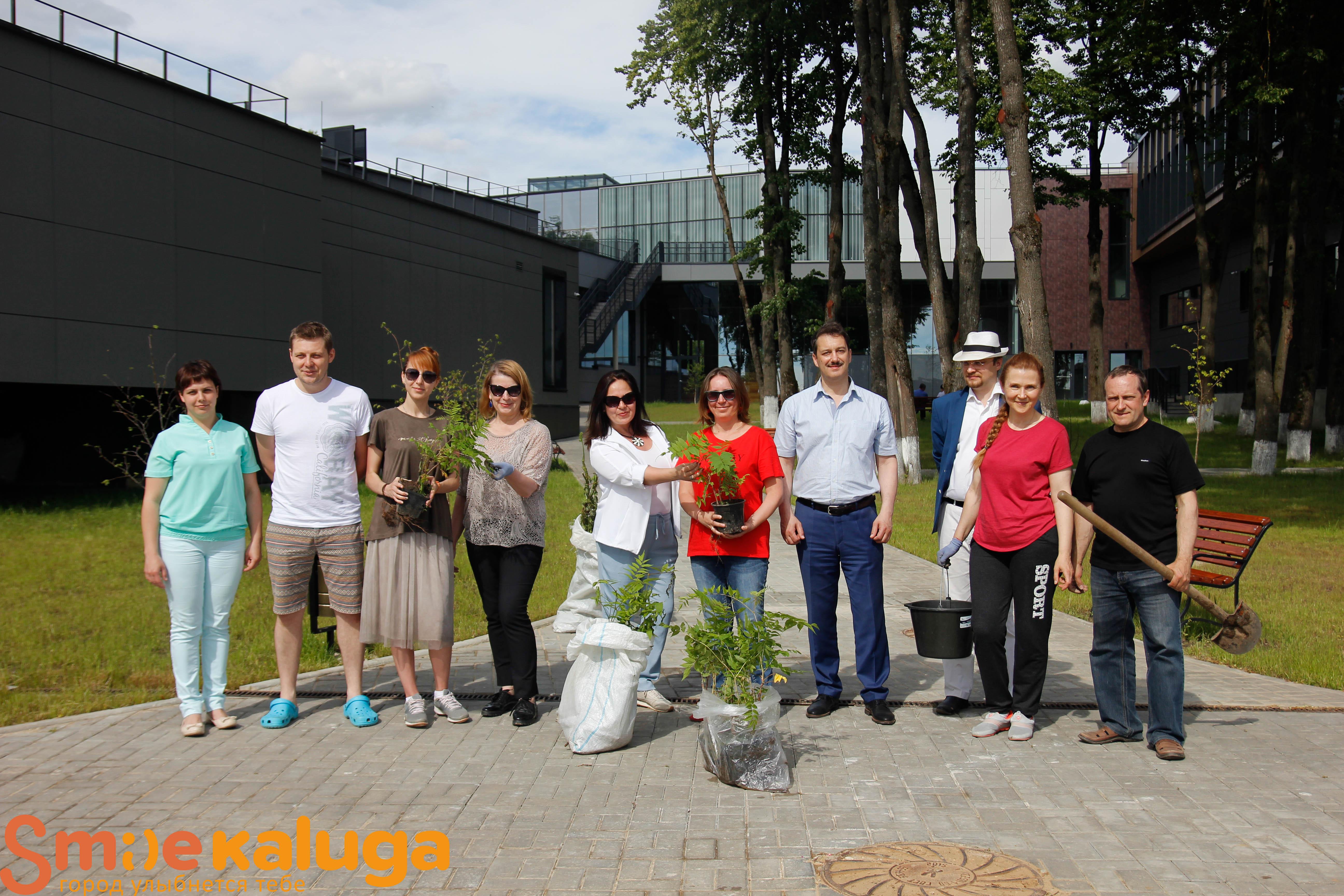 Инновационному культурному центру подарили молодые саженцы