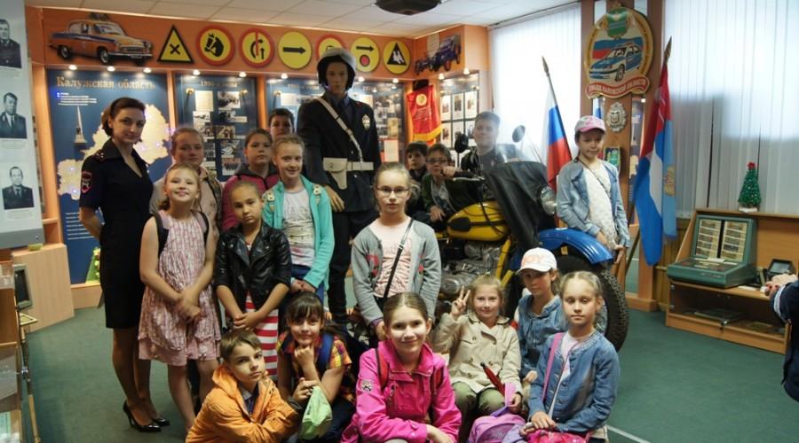 Калужские школьники посетили музей Госавтоинспекции
