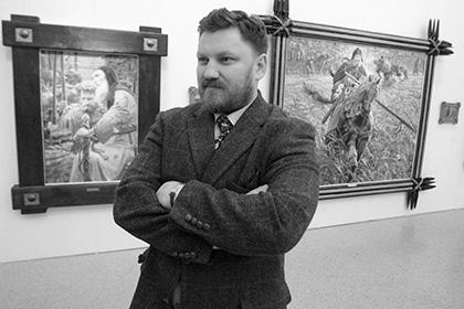 В Свято-Тихоновой Пустыни открылась выставка Павла Рыженко