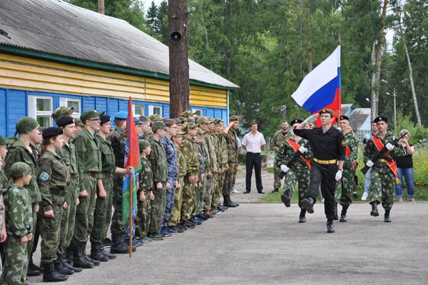 В детском лагере открылась военно-патриотическая смена