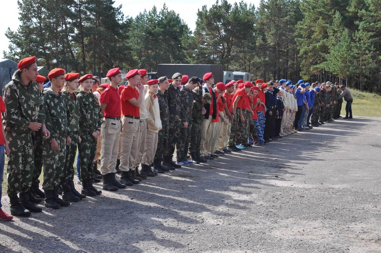В Калужской области прошел Юнармейский полевой лагерь