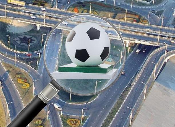 На въезде в город установят трёхметровой мяч