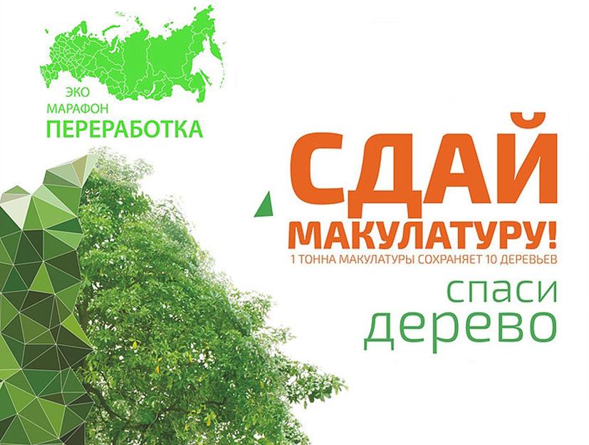 В области продолжается экологическая акция «Сдай макулатуру — спаси дерево»