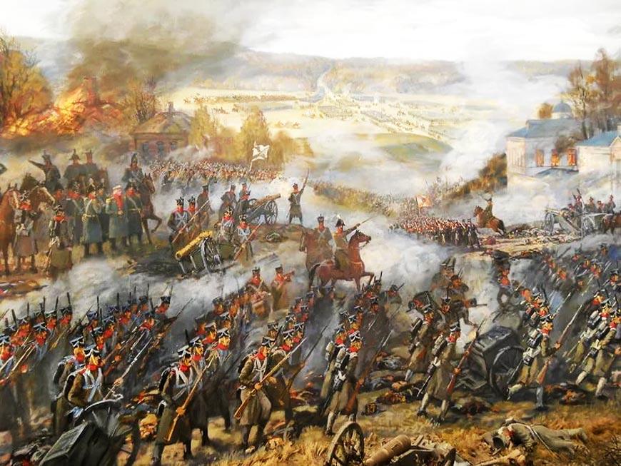 Под Малоярославцем воссоздали сражение 1812 года