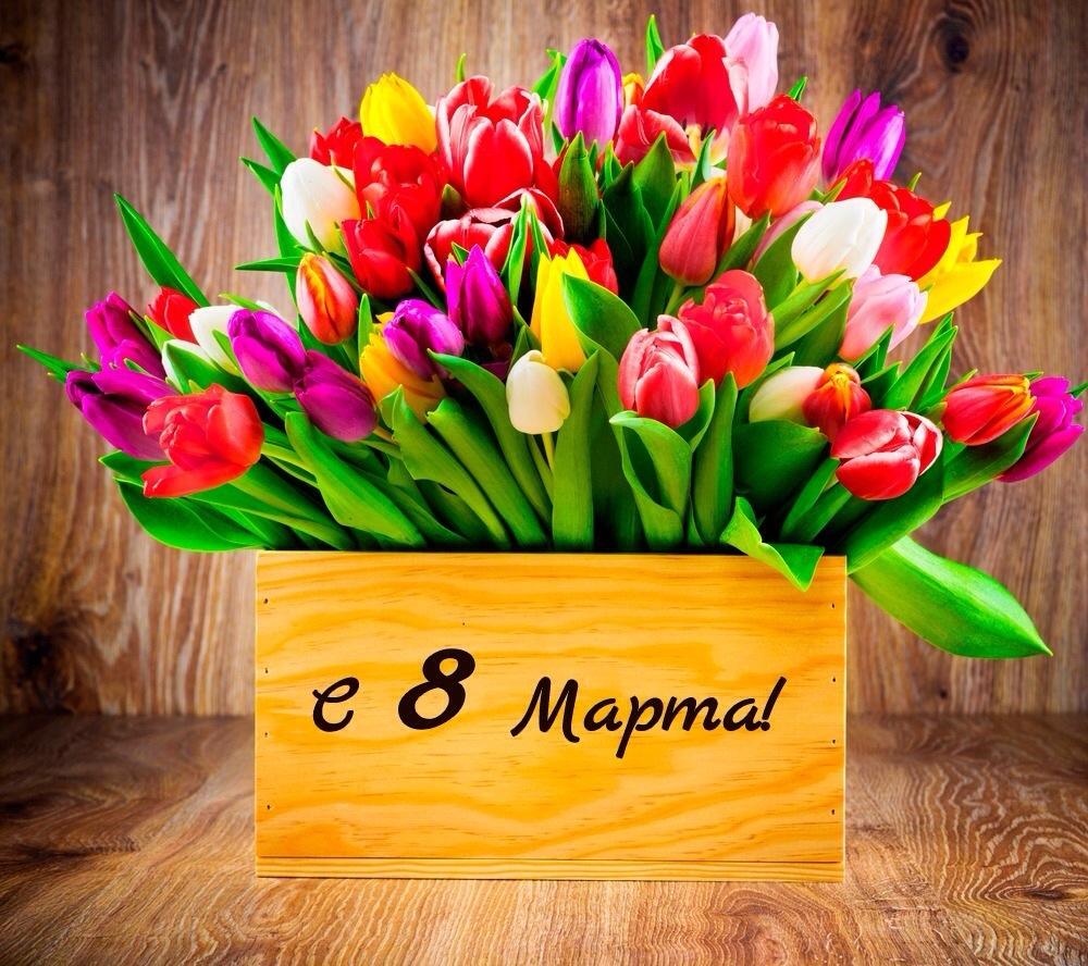 Калужанок поздравляют с 8 марта