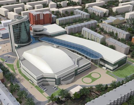 Строительство Дворца спорта ведется по графику
