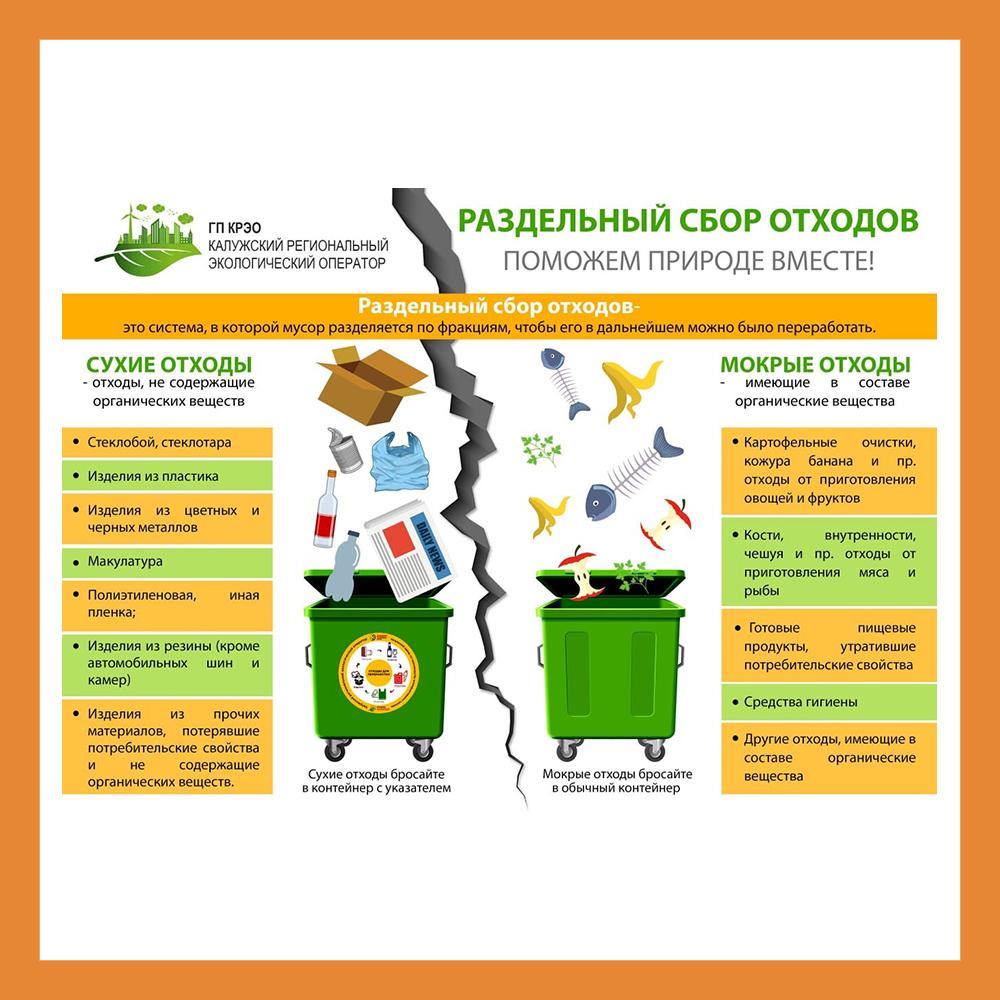 Калужанам рассказали как правильно разделять отходы