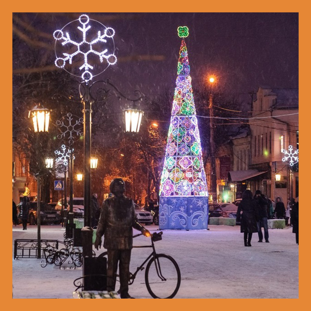 Жителей и гостей Калуги приглашают на открытия новогодних елок