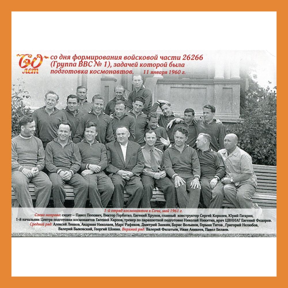 В этом году отмечается 60-летие формирования первого отряда космонавтов