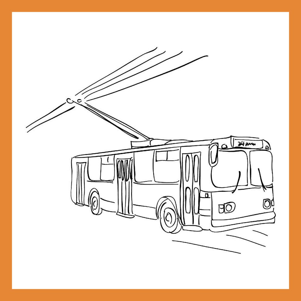 Калужанам предложили раскрасить экскурсионный троллейбус к 650-летию города