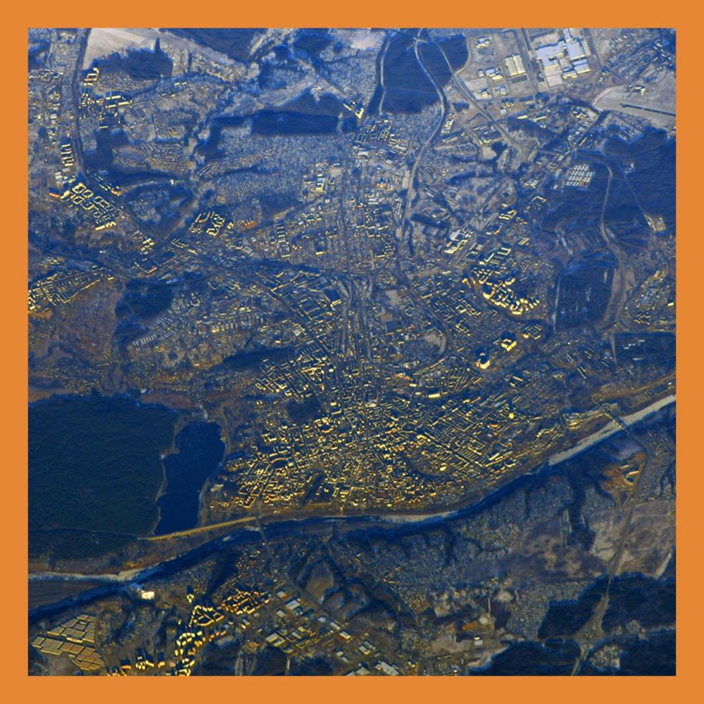 Новогоднюю Калугу сфотографировали из космоса