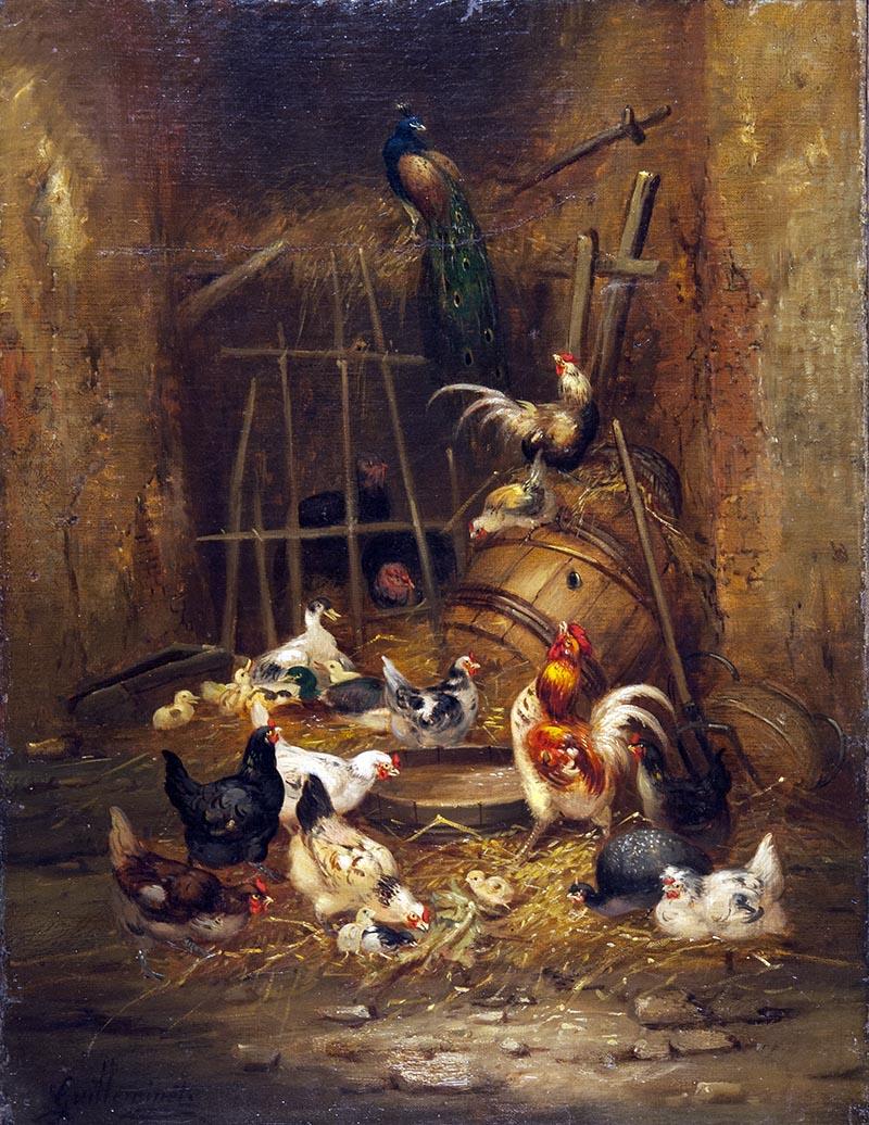 Выставка одной картины Клода Мари Гийемине «Птичий двор». КМИИ