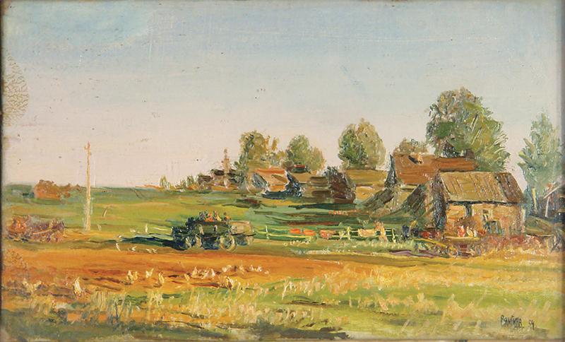 Выставка одной картины С.В. Рянгиной «Новая дорога»