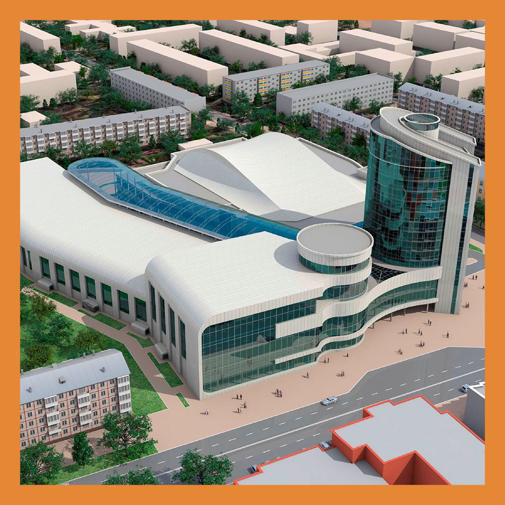 Открытие Дворца спорта запланировано перед Днем города