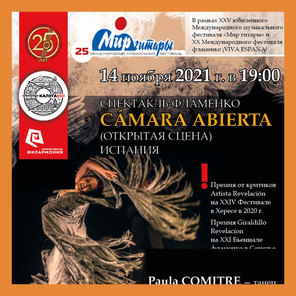 Спектакль-фламенко пройдет в рамках юбилейного фестиваля «Мир гитары»